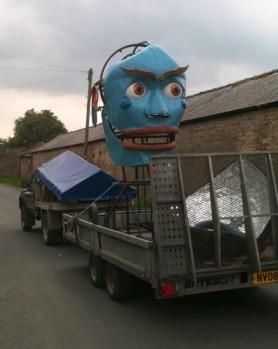 Kings Head & Eel on their way to Masham Arts Festival