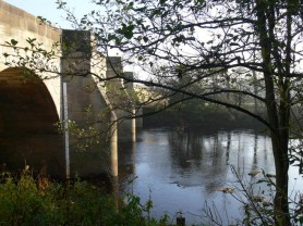 Masham Bridge from the Rec