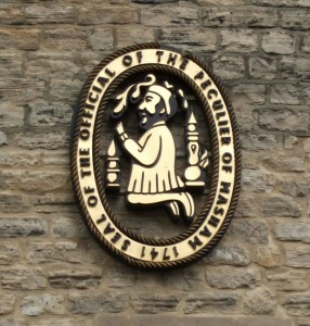 Official Seal of Old Peculier - on Theakston's Wall