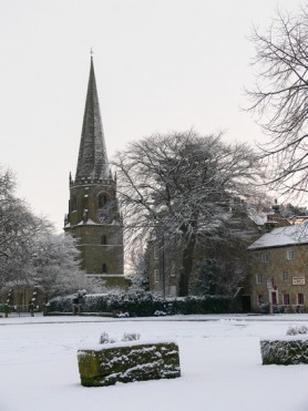 Snowy St Mary's Church. K Holland