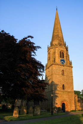 St Mary's Church. Dusk in Summer.  K Holland